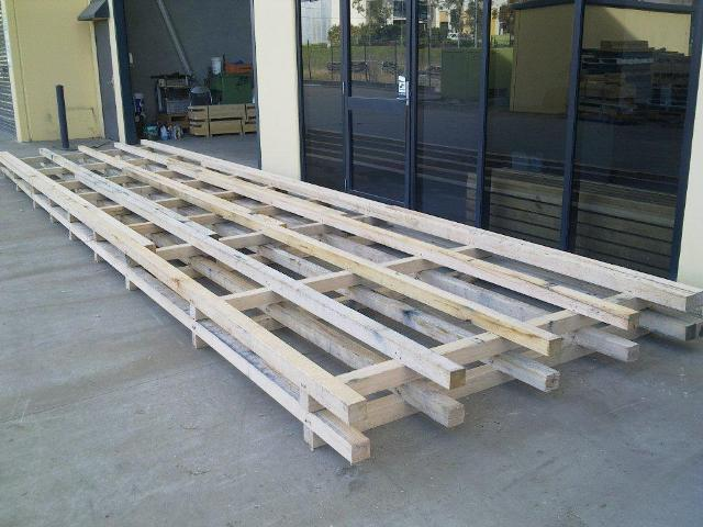 over size long pallet skids for sheet metal pace pallet